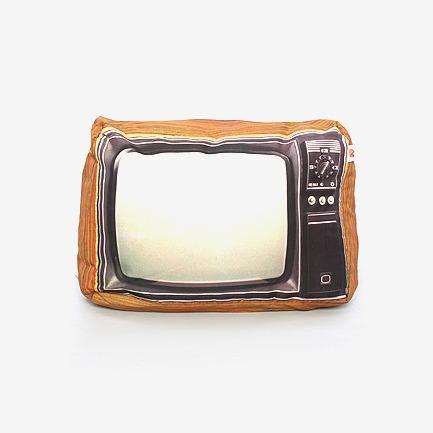 vintage老电视机 复古 抱枕
