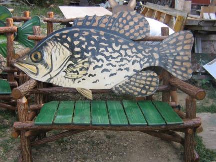 手绘黄樟木海鱼长椅-淘宝网