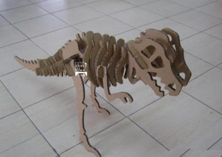 瓦楞纸动物 纸恐龙 纸犀牛