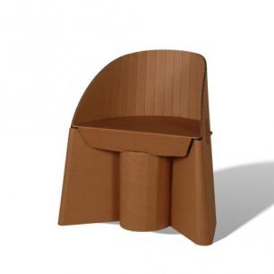 纸制品 创意环保纸家具 靠背弧度设计椅子