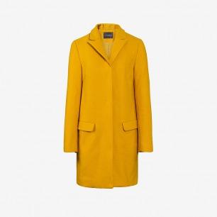 独立设计师品牌sungdo gin纯色极简呢料长款外套