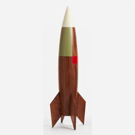 pat kim木质火箭摆件
