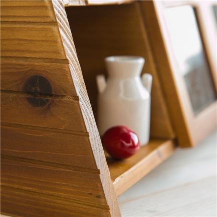 原木梯形3格玻璃柜.良仓-生活美学指南