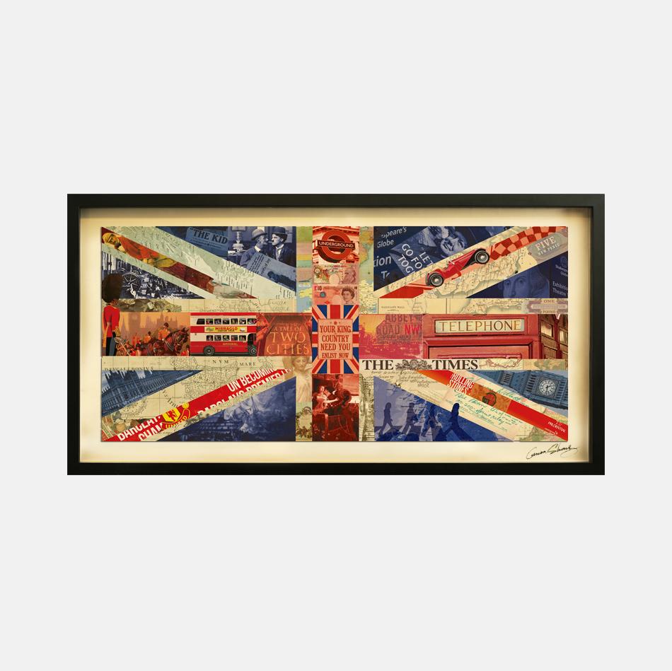 > 英国国旗-拼贴画
