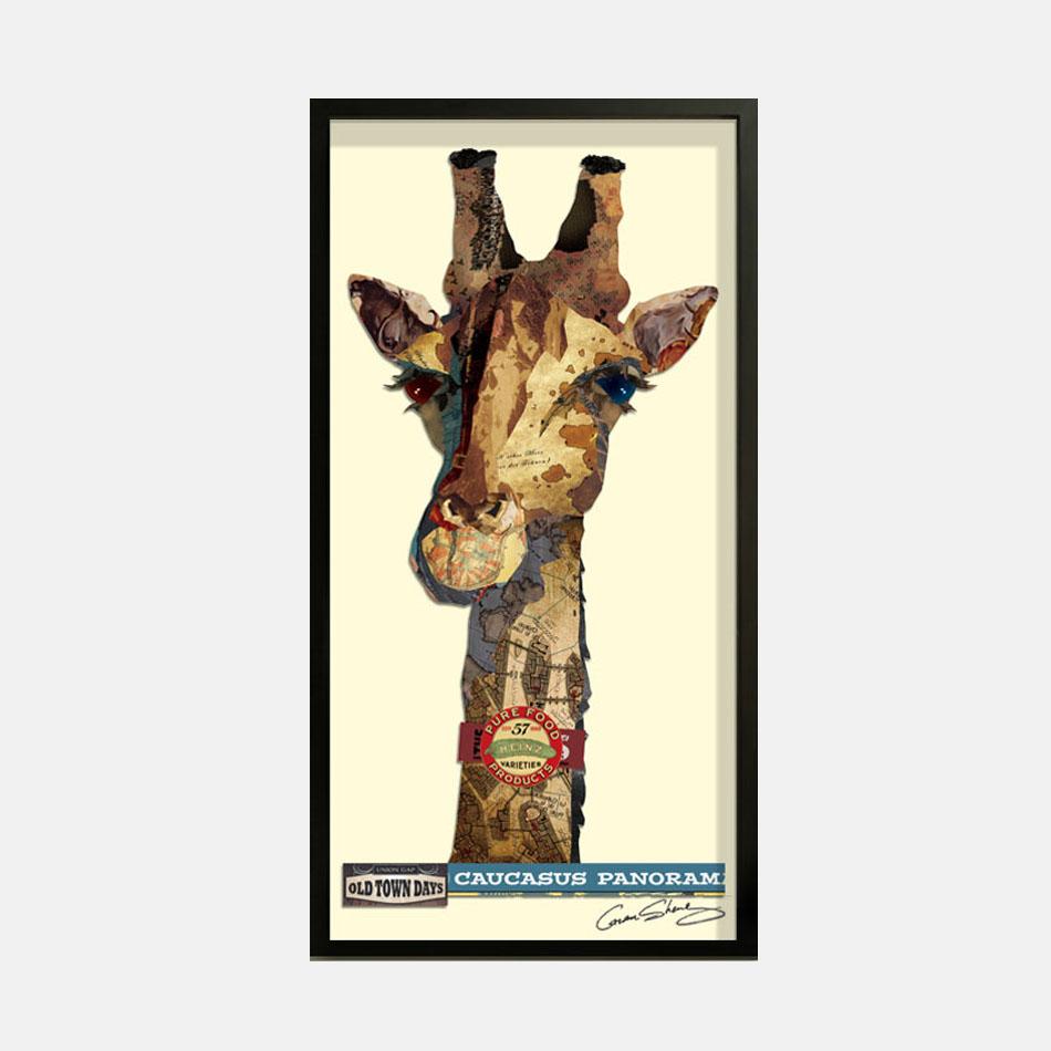 长颈鹿-拼贴画